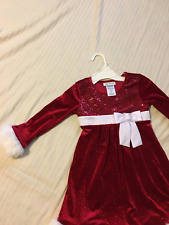 Bonnie Jean: Girl's Velveteen Holiday/Party Dress, Faux Fur Trim: Red, Sz 5