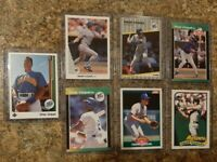 (7) Omar Vizquel 1989 Upper Donruss Score Fleer Topps 1990 Leaf Rookie card lot