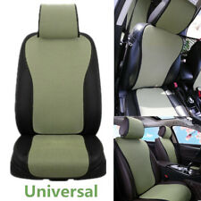 1pcs Green Cool Front Seat Cushion Cover Ice Silk Breathable Car Chair Protector