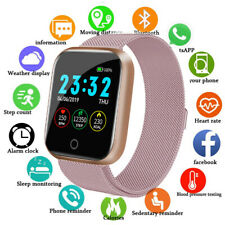 Bluetooth Smartwatch Schrittzähler Armbanduhr Sport Fitness Tracker For Damen DE