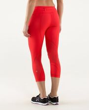 Brand NEW! Lululemon Run Inspire Crop Tights in LORE Red- Size 4/XS