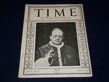 1924 JUNE 16 TIME MAGAZINE - PIUS XI COVER - T 61