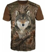 3D Men T shirt Tee Hoodie Sweatshirt Hunting Wolf Forest Graphic Casual Camo