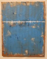 No.827 Original Abstract Minimal Painting On Recycled Cardboard By K.A.Davis