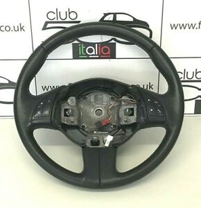 Fiat 500 Steering Wheel in Black Perforated Leather (2008-2015)