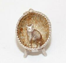 Vintage Sterling Silver Bracelet Charm Cat In Chair by Exquisite