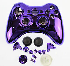 Replacement Custom Chrome Purple Xbox 360 Controller Shell Case Cover