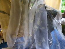lot 3 beaux rideaux voilages blancs