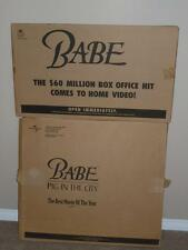 Standee Lot Universal The Babe & Babe Pig In The City Cardboard Cutout Store New