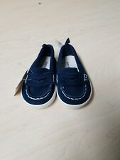 NWT Baby Gap Suede Baby Boy Navy Loafers Size 3-6 Months
