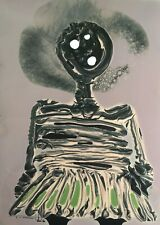 Tonito Original Fine art painting on KODAK RC Silver Gelatin Paper.Girl figure.