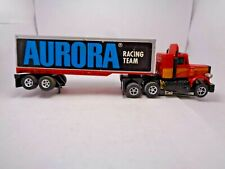 Afx Custom Peterbilt Semi Truck Red/Yellow/Orange. Aurora Trailer Ho Slot Car