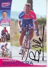 CYCLISME carte cycliste MARCO BANDIERA équipe LAMPRE signée
