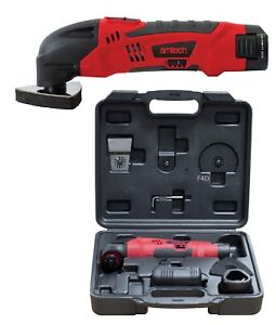 10.8V LI-ION CORDLESS MULTI FUNCTION OSCILLATING SANDER SCRAPER MULTI TOOL CASE