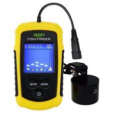 Lucky Portatile Pesce Finder Sonar, TN/ Anti-UV LCD Display w/ LED Controluce