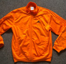 ADIDAS TRACKSUIT TOP JACKET UK 40-42 US M ORANGE