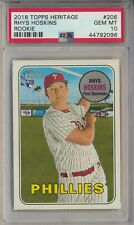 2018 Topps Heritage Rhys Hoskins Action Variation SP Rookie RC PSA 10
