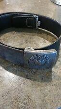 Genuine Vintage German WWII (WW2)  Belt Buckle With Leather Belt