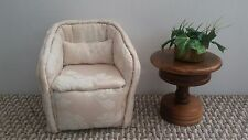 1:6 Scale Custom Made Designer Chair Ottoman Pillow Furniture Beige/Cream