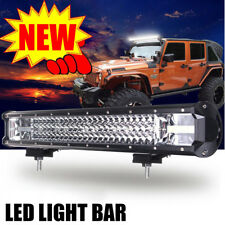 1× 22Inch LED Work LightBar Flood Spot Combo Driving Lamp Car Truck Offroad 2018