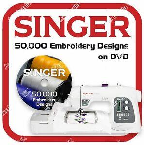 50,000 Singer, Compucon Embroidery design files XXX on DVD