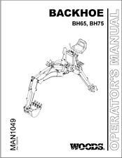 Woods Bh65 Bh75 Backhoe Loader Operator Manual