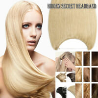 "16""~24 100% Invisible Fits Halo Wire Human Hair Extensions one piece 80G -120g"