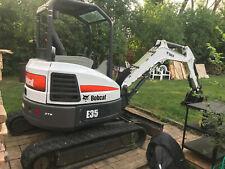 2014 35Hp E35 Bobcat Excavator Zts Zero Turn Swing Clamp Lights Radio & More !
