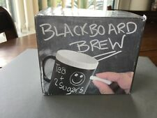 NOVELTY GIFT MUG-BLACKBOARD BREW,TEA/COFFEE MUG, with chalk.