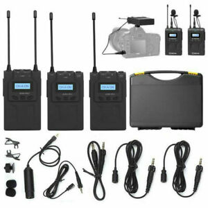 Boya BY-WM8 PRO K2 UHF Dual Channel Wireless Lavalier Microphone System for DSLR
