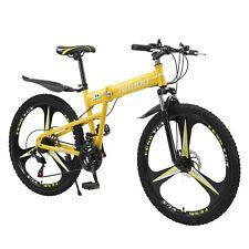 26in Folding Bike Full Suspension Mountain Bicycle Road MTB Bike 21 Speed New