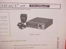 1978 RAY JEFFERSON CB RADIO SERVICE SHOP MANUAL MODEL CB-845