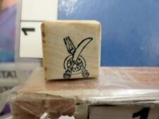 fork and knife  RUBBER STAMP 5Q