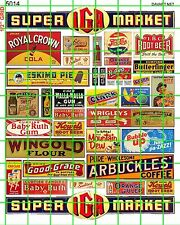 5014 HO 1:87 DAVE'S DECALS VINTAGE GROCERY SIGNAGE AND ADVERTISING DAVARTnet