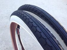 """New Two (2) Sunlite 26"""" x 2.125"""" Vintage Bicycle White Wall Tire Kenda  (57-559)"""
