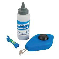 Schlagschnur Set mit blauer Kreide & Schnurwasserwaage Schlagschnurgerät 15m