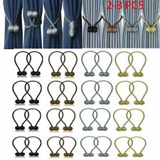 2-8pack Curtain Tie Backs Magnetic Ball Buckle Holder Tieback Clips Window Home