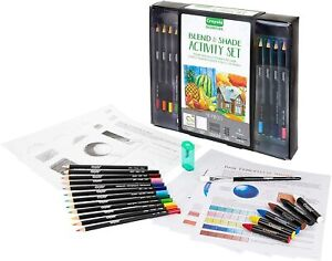 Crayola Blend Shade Pencil Gift Box Set Oil Pastels Art 40 Piece Adult Coloring