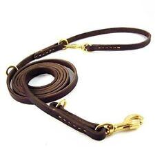 Multi-functional Dog Leash 2.5M Long Handmade Leather Adjustable Hands Free best