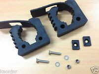 QUICK FIST Genuine Rubber Clamp PAIR 25 - 45MM dia 10KG 4wd Shovel Axe Holder