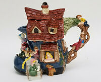 1995 FITZ & FLOYD COLLECTOR'S SERIES OLD WOMAN IN A SHOE TEAPOT 796/1500