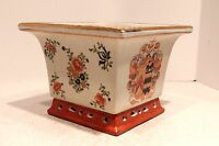 Beautiful Square Hand Painted Porcelain Flower/ Orchid Pot