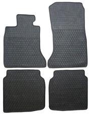BMW 7 Series 2009-2011 Black Rubber All Weather Floor Mats Front & Rear Set OEM