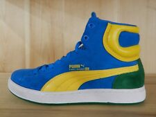 PUMA FIRST ROUND S BLUE ASTER SPECT YELLOW AMAZON GS KIDS SIZE 5 Y  181980-15