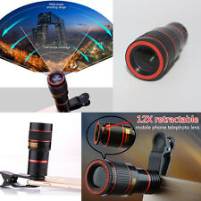 Fashion 12X Zoom Telephoto Camera Phone Clip-on Telescope Lens for Smartphone