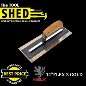 """NELA FLEX 2 GOLD - Plastering Trowel 14"""" Lowest Price Guaranteed Next Day Posted"""