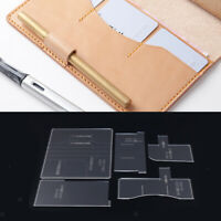 5Pcs DIY Notebook Cover Pattern Clear Acrylic Stencil Template For Women Man