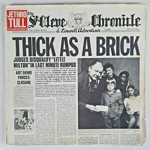 """JETHRO TULL - THICK AS A BRICK - EARLIEST UK ISSUE - 12"""" VINYL LP"""