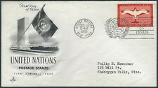 1951 United Nations Fdc - First Air Mail Issue - Art Craft Cachet!