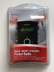 RADIO SHACK 12-470 DIGITAL AM/FM/TV/WX POCKET RADIO -NEW & FREE SHIPPING